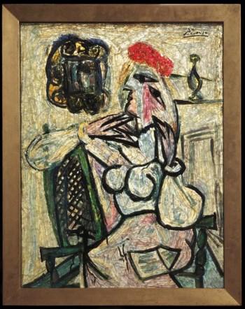 """""""Mulher Sentada com Chapéu Vermelho"""" vale mais que a colecção completa do museu de Evansville"""