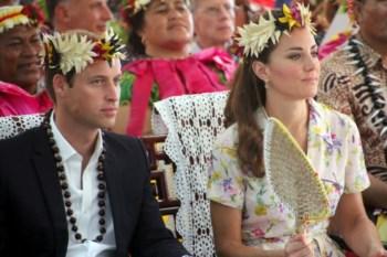 William e Kate visitram esta quarta-feira Tuvalu