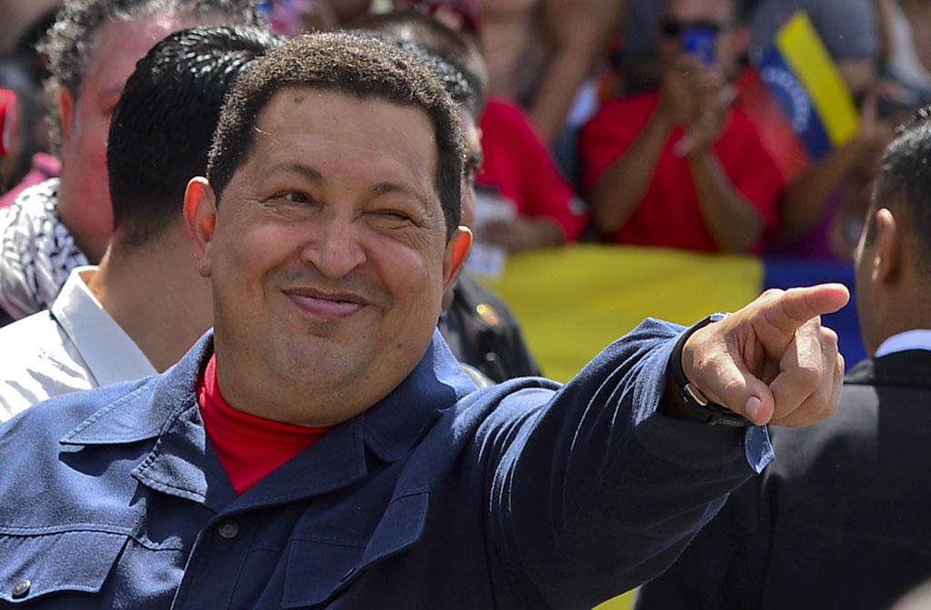 Chávez, depois de ter votado<b>Foto: Luis Acosta/AFP</b>