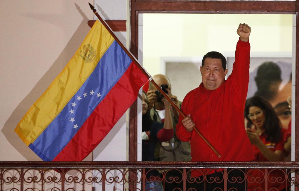Chávez depois da confirmação da vitória<b>Foto: Jorge Silva/Reuters</b>