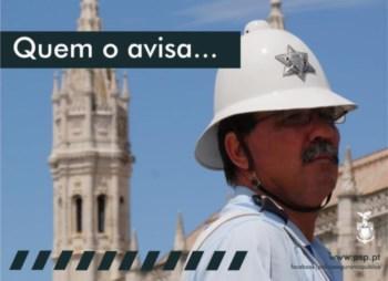 Cartaz da campanha da PSP