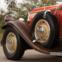 1931 Pierce-Arrow Model B125 Roadster. O desportivo. Resultado da fusão entre a Pierce-Arrow e a Studebaker, que permitiu o desenvolvimento de motores de oito litros.