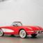 1960 Chevrolet Corvette. O icónico. Pintado em vermelho Roman, com flancos brancos e interior encarnado a combinar, este é um dos 10.261 Corvette produzidos pela GM, na sua fábrica de St. Louis, no Missouri, em 1960, e um notável exemplar do icónico desportivo americano. €60.000 - €80.000