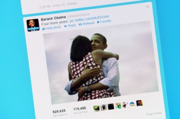 A foto que Obama colocou no Twitter