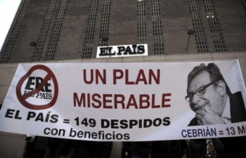 Protesto o despedimento de um terço dos trabalhadores no dia 6, o primeiro de três dias de greve