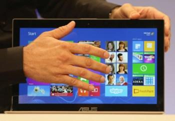 O Windows 8 foi concebido para ser usado com gestos