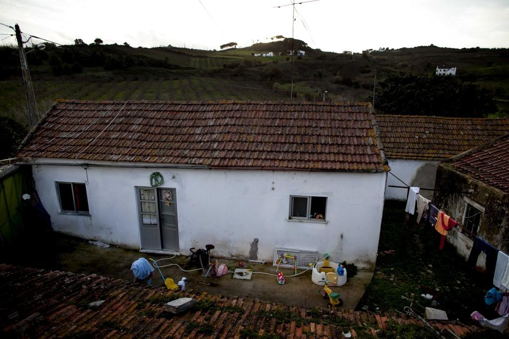 A casa onde a família vivia na localidade de Preces, em Alenquer