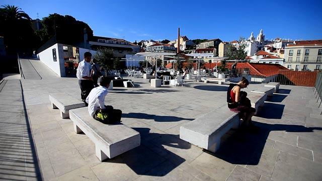 Lisboa vista das esplanadas