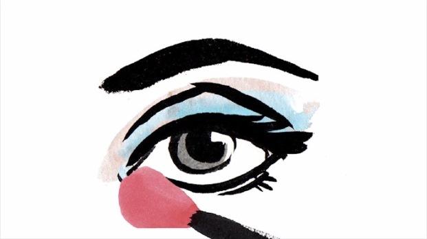 Passo a passo para os olhos esfumados azuis Armani