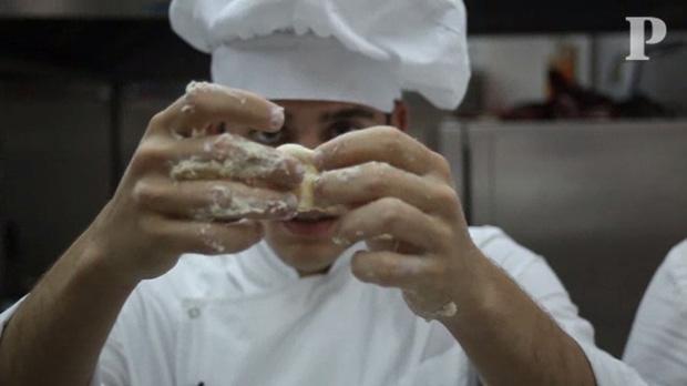 Massa folhada pelos mini chefs