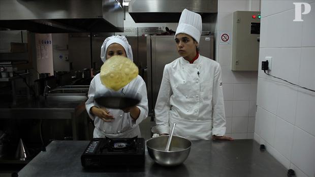 Massa de crepe pelos mini chefs