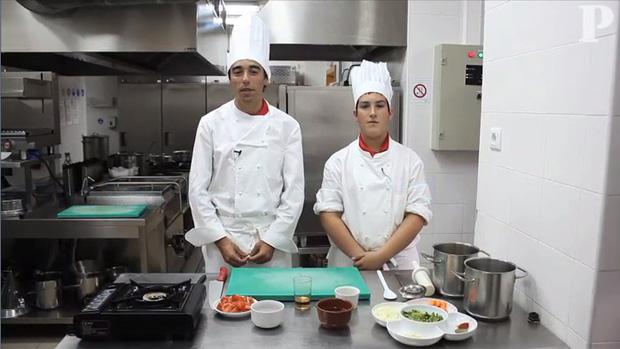 Fundo americano pelos mini-chefs