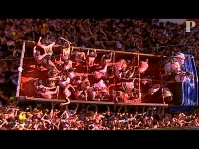 Maré vermelha de tomates invade Espanha