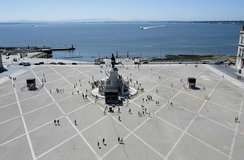 Lisboa a 360º do alto do Arco da Rua Augusta