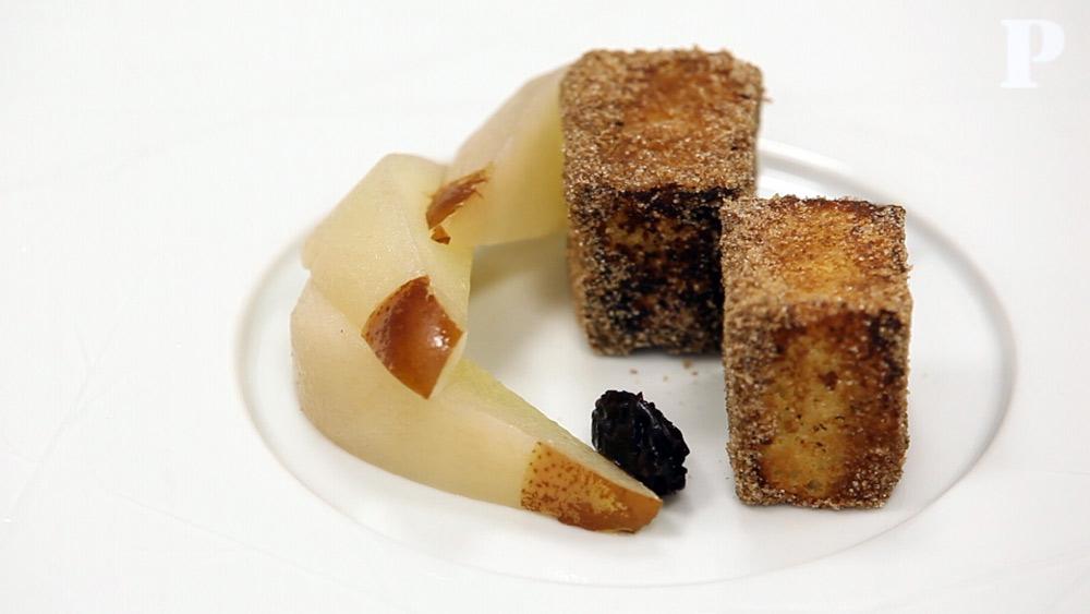 Rabanada com pera cozida, por Miguel Laffan