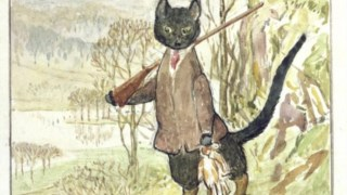 Ilustração de Beatrix Potter para <i>The Tale of Kitty-in-Boots</i>