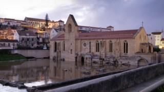 Ainda há um mês, o Mosteiro de Santa Clara esteve parcialmente submerso