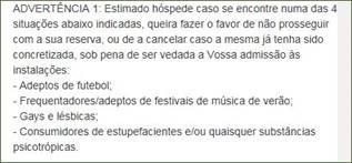 Aviso no site da Casa D' João Enes, imagem tirada pela ASAE a 06/06/2016
