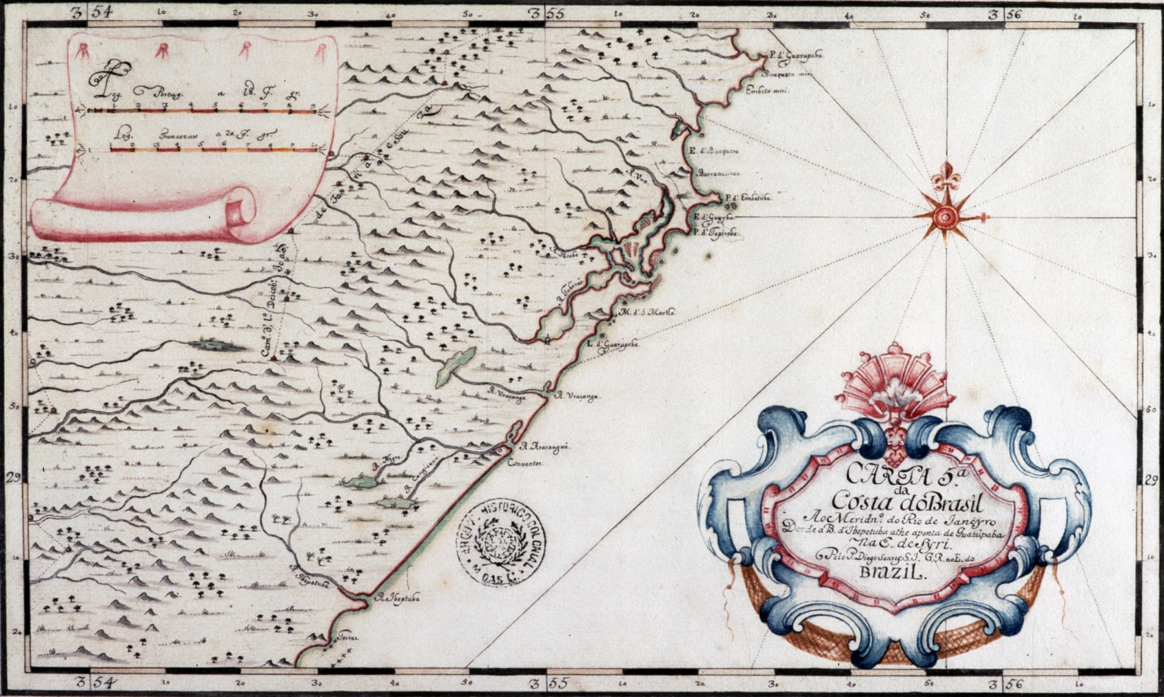 Os mapas do Brasil desenhados pelos padres matemáticos no século XVIII