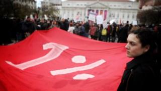 A manifestação de artistas que simbolizou a contestação ao novo modelo de apoio às artes