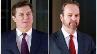 Paul Manafort (à esquerda) e Rick Gates tinham uma parceria de sucesso a aconselhar políticos