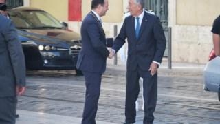Fernando Medina recebeu o Presidente da República na Praça do Município esta sexta-feira para as comemorações do 5 de Outubro