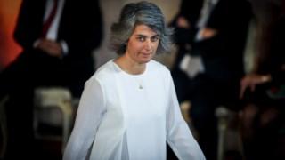 Graça Fonseca na tomada de posse do actual Governo, em Novembro de 2015
