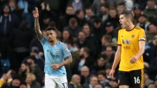 Gabriel Jesus marcou os dois primeiros golos do City