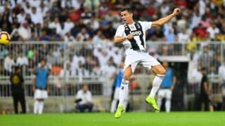 O momento em que Cristiano Ronaldo faz o único golo do jogo