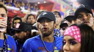 Neymar não falhou a presença no Carnaval brasileiro