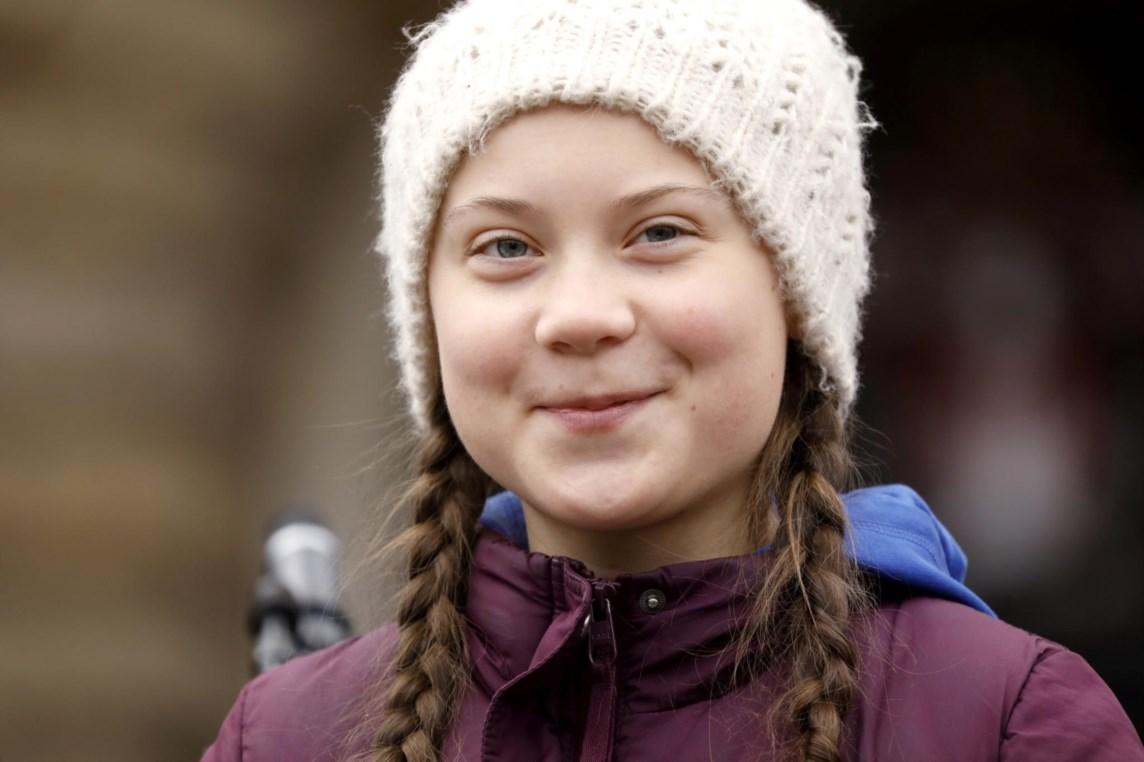 Greta Thunberg tem 16 anos e é natural da Suécia