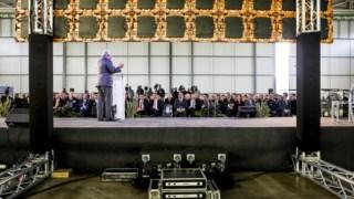 Cerimónia de assinatura do acordo de financiamento entre o Estado português e a ANA para a construção de um novo aeroporto no Montijo