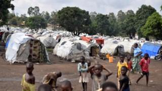 Um campo de deslocados em Burnia, na província de Ituri