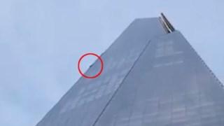 O homem a escalar o The Shard, o edifício mais alto da Europa Ocidental