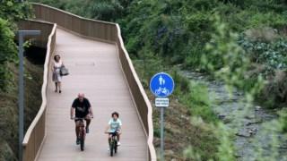 A obra permitiu fazer também uma requalificação paisagística desta zona entre Porto e Rio Tinto