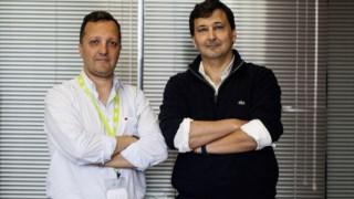 Nuno Freitas, à direita, é o novo presidente da CP.