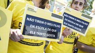 Os cortes nos contratos de associação motivaram vários protestos de rua