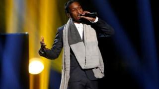 O rapper norte-americano A$AP Rocky durante uma actuação em Los Angeles, em 2014