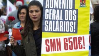 Apesar do aumento registado nos últimos anos, os sindicatos defendiam que o salário mínimo deveria ultrapassar os 600 euros