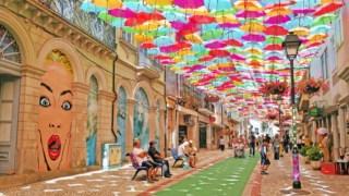 Projeto do céu do guarda-chuva