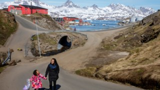 Vista de Tasiilaq, no sudeste da Gronelândia