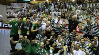 O Sporting conquistou a Supertaça de futsal, ao derrotar o Benfica por 6-2