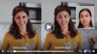 A tecnologia funciona ao fundir imagens reais para criar vídeos falsos