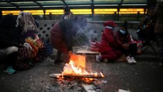 Os manifestantes ocuparam as ruas para exigir a Macri que decrete o estado de emergência alimentar