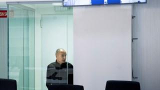O ex-chefe militar da ETA, Mikel Kabikoitz Carrera Sarobe, durante o julgamento na Audiência Nacional