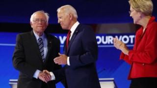 Bernie Sanders, Joe Biden e Elizabeth Warren são os favoritos nas sondagens