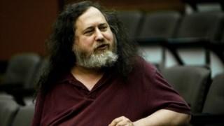 Richard Stallman, numa palestra na Universidade do Minho, em 2012