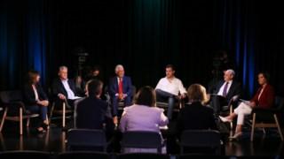 Este foi o primeiro debate a juntar os seis candidatos com assento parlamentar