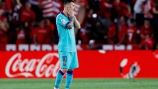 O desespero de Messi após o segundo golo do Granada.