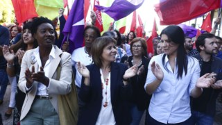 O BE fez uma arruada sábado à tarde no Parque das Nações em Lisboa